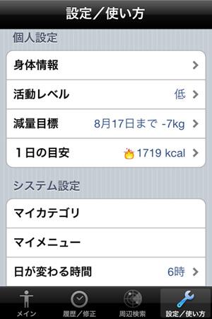 iPhoneアプリ「カロリー管理」で、12kgの減量に成功(さらに継続中)