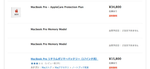 MacBook Pro Memory Model