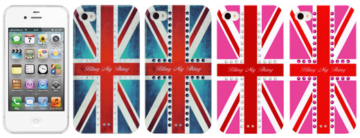 Bling My Thing iPhone 4S/4 Union Jack