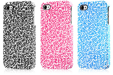 KEITH HARING Rubber Coated Case for iPhone 4S/4