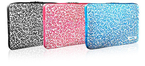 KEITH HARING Canvas Sleeve with Zip for MacBook Pro