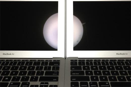 スクリーンの反射