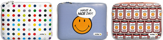 SMILEY PU Leather Sleeve with Zip for MacBook Pro