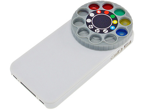 iPhone4/4S用 面白レンズフィルター付き プラスチック製ケース