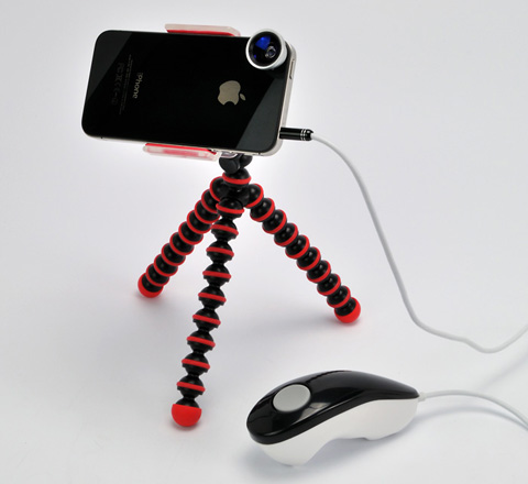Wide & Macro Lens for iPhone4S&4/smartphone/Shutter remocon for iPhone/iPad