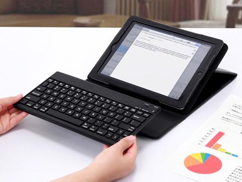 サンワサプライ、Bluetoothワイヤレスキーボードを脱着できるiPadスタンド機能付きケースをWeb限定発売
