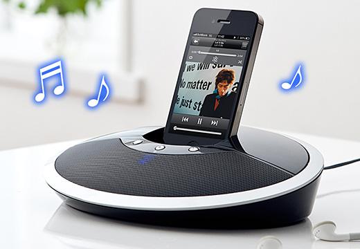 サンワサプライ、iPhone/iPad用スタンドが一体となったBluetoothワイヤレススピーカーをWeb限定発売