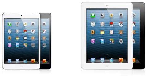 iPad mini/iPad Retinaディスプレイモデル