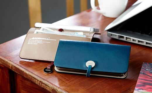 EVOUNI Leather Arc Wallet L55