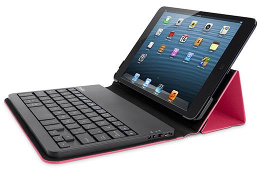 iPad mini対応キーボードフォリオ ピンク