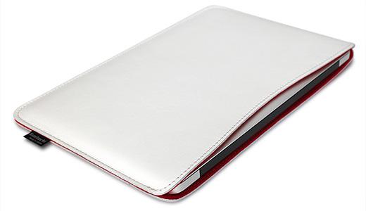 職人が作るオイルドレザースリーブ for MacBook Air 13インチ スノウホワイトxレッド