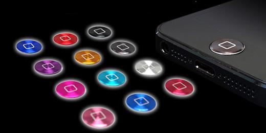 ホームボタンアルミプレート:プレミアム for iPhone/iPad
