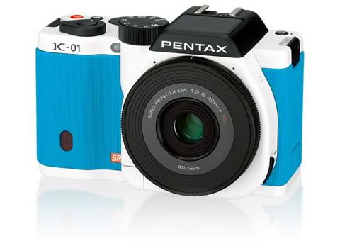 PENTAX K-01 レンズキット ホワイト×ブルー