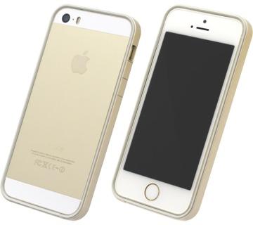 フラットバンパーセット for iPhone 5S/5 ゴールド