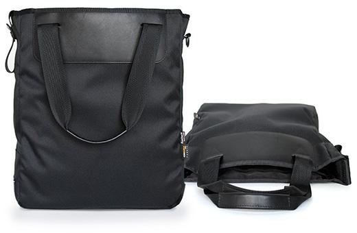 国立商店、MacBookとiPad用のポケットが付いた3ウェイトートバッグ「Narrow Tote」を発売