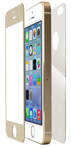 tempered glass colors limited Edition for iPhone5s ゴールド
