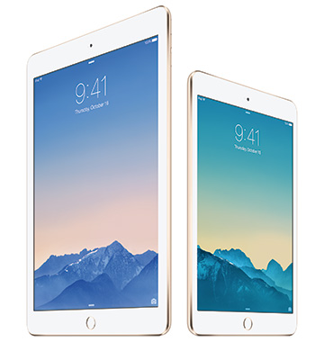 iPad Air 2、iPad mini 3