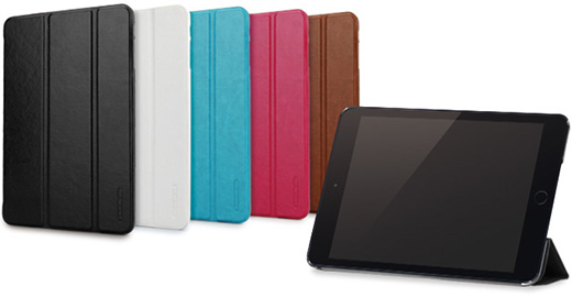 LeatherLook SHELL with Front cover for iPad mini (3/2/第1世代)