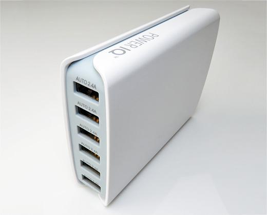 50W 6ポート USB 自動判別機能 POWER IQ System 搭載・急速充電器