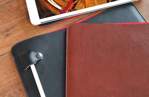 職人が作るオイルドレザースリーブ for iPad Pro
