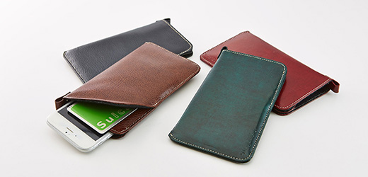 Eco Leather Sleeve with Card Pocket for iPhone 6s/6