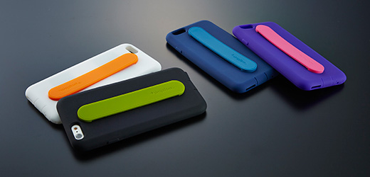 Silicone Case with Card Pocket & Grip Band for iPhone 6s/6