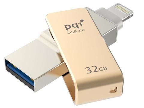 LightningコネクタとUSB端子を搭載するUSBメモリ「PQI iConnect mini」が、Amazonタイムセールで最大51%オフ