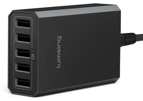 40W 5ポート 8A高出力 デスクトップUSB急速充電器