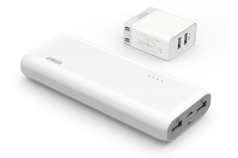 Anker Astro E5 第2世代 16000mAh モバイルバッテリー&Anker 20W 2ポート USB急速充電器 充電セット