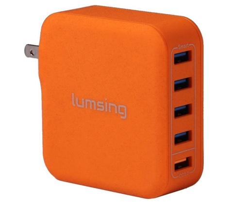 Lumsing USB 急速充電器 40W 5ポート