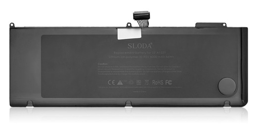 SLODA交換用バッテリーApple用MacBook Pro 15 Inch (A1321 A1286)