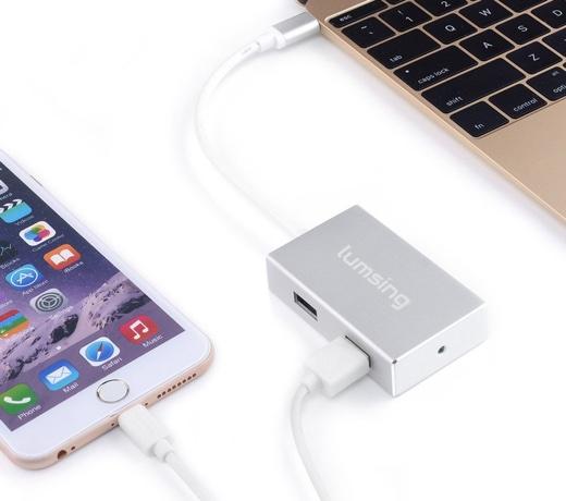 Lumsing USB ハブ USB 3.1 変換 アダプタ