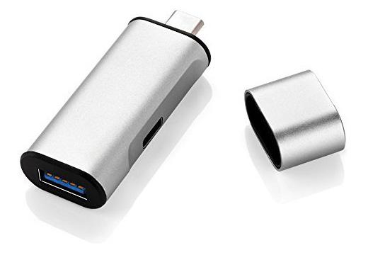 12インチMacBookに充電しながらUSB機器を1台つなげるアダプタが、Amazonタイムセールで1,500円
