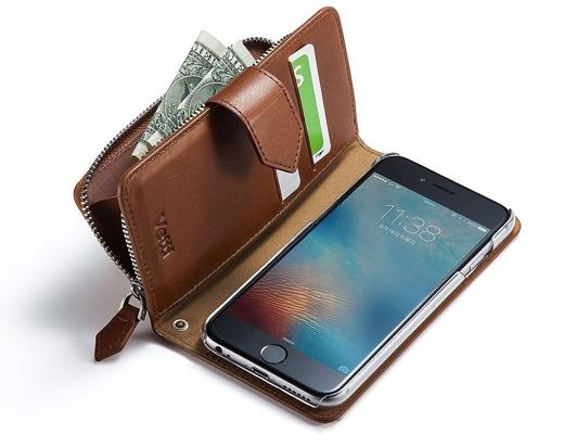 iPhone 6s/6手帳型ケース(本革・コインケース・カード収納付き)
