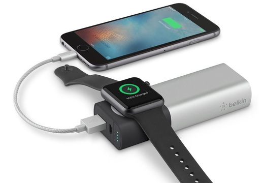 ベルキン、Apple Watch充電器も内蔵したモバイルバッテリーを発売
