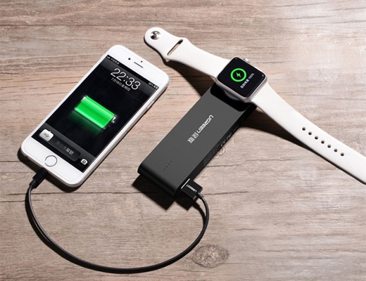 サンコー、Apple WatchとiPhoneを同時に充電できるモバイルバッテリーを発売