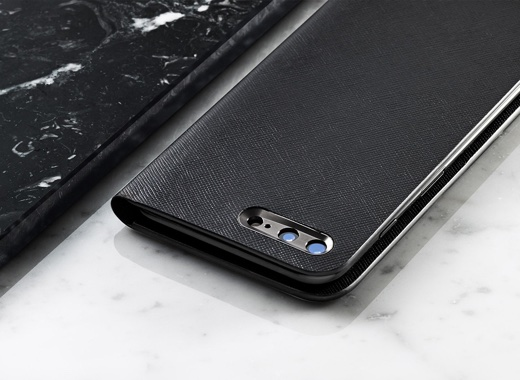 Calf Leather Case Book Type for iPhone 7 Plus