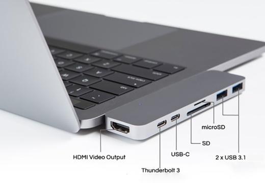 アクト・ツー、MacBook Pro (2016) にフルスピード7ポートを追加する「HyperDrive Thunderbolt 3 USB-C ハブ」を発売