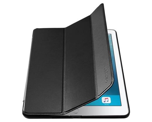 Spigen、第5世代 iPad (9.7インチ) 用のスリムな手帳型ケース「スマートフォールドケース」を発売、発売記念46%オフも