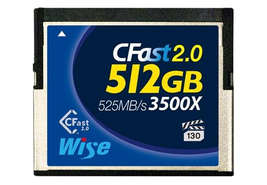 Wise CFast 2.0 メモリーカード 512GB