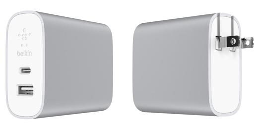 デュアルポートホーム充電器27W + USB-C to USB-Aケーブル