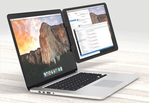 フォーカル、iPadやiPhoneをMacBookのディスプレイに取り付けられるマウント「Ten One Design Mountie+」を発売