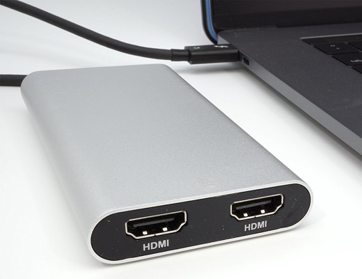 Thunderbolt 3 HDMI 2.0 4K 60Hz Dual Display Adapter