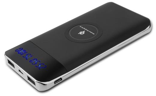 大容量10,000mAh Qi ワイヤレス充電器 モバイルバッテリー
