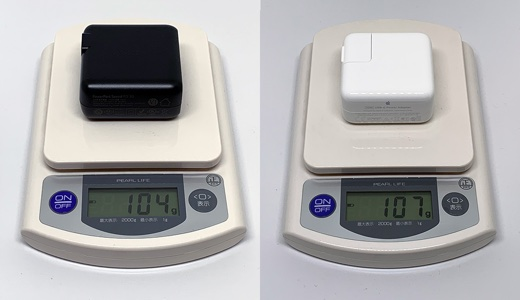 純正との重さ比較