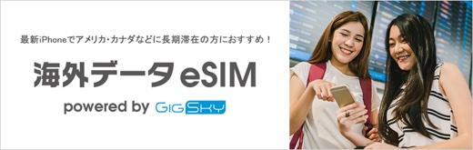 海外データeSIM powered by GigSky