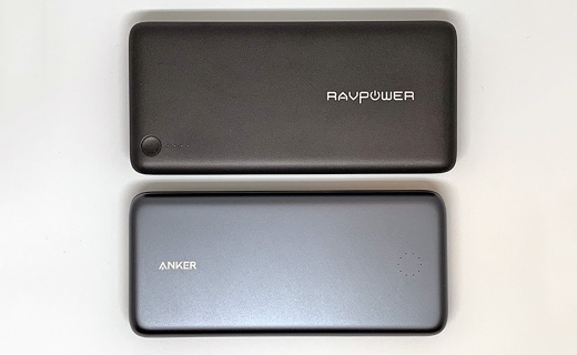 「RAVPower RP-PB059」と「Anker PowerCore+ 19000 PD」