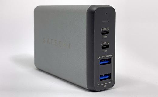 Satechi 75W デュアル Type-Cトラベルチャージャー 2 USB-C PD & 2 USB 3.0