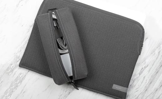 moshi、MacBook用インナーケースPlumaと同生地のアクセサリポーチ「moshi Pluma Pouch」を発売