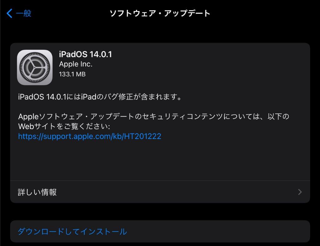 iPadOS 14.0.1